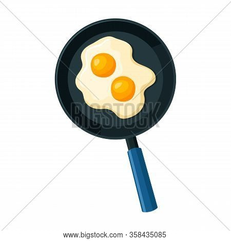Pan Of Egg Vector Icon.cartoon Vector Icon Isolated On White Background Pan Of Egg.