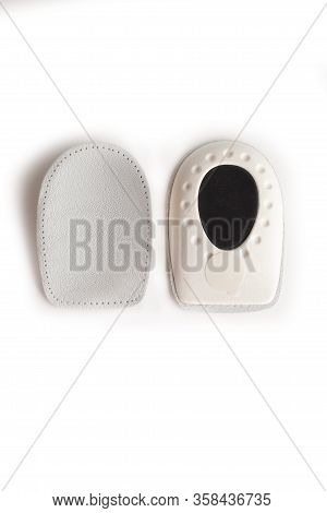 Orthopedic Silicone Heel Pad From Corns For The Correction Of Different Lengths Of Legs Isolated On