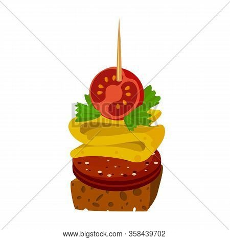 Canape Of Snack Vector Icon.cartoon Vector Icon Isolated On White Background Canape Of Snack.