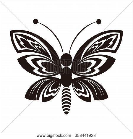 Butterfly Silhouette, Cute Black Butterfly Image, Black Butterfly Silhouette Insect, Beautiful Winge
