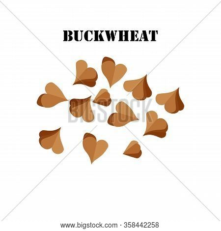 Buckwheat Cereal Healthy Organic Nutrition Vector Illustration