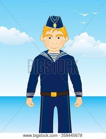 Sailor Man On Background Blue Epidemic Deathes
