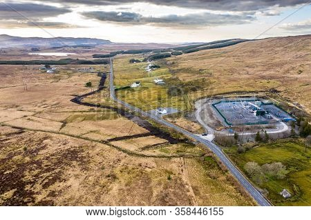 Aerial Image Of Electricity Transmission Sub-station In County Donegal - Ireland