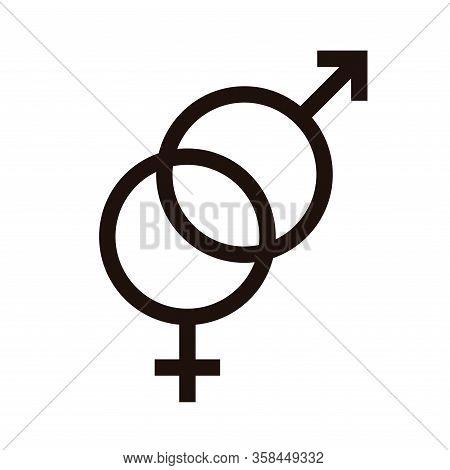 Hetero Sexual Flat Icon. Sexual Orientation Concept Symbol. Pictograms Vector Illustration.