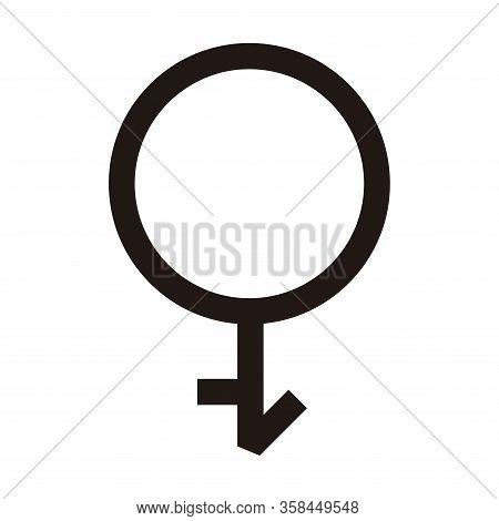 Inter Gender Flat Icons. Pictogram Vector Illustration.