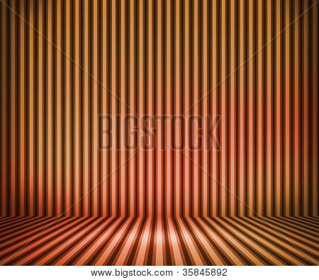 Orange Striped Background Show Room