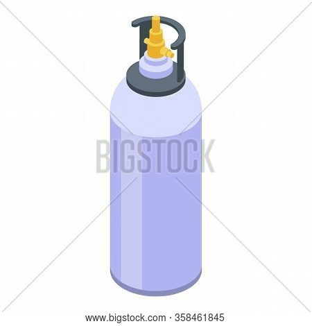 Gas Cylinders Icon. Isometric Of Gas Cylinders Vector Icon For Web Design Isolated On White Backgrou