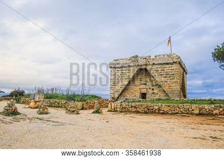 Castell De Sa Punta De N'amer In Cala Millor, Mallorca, Spain