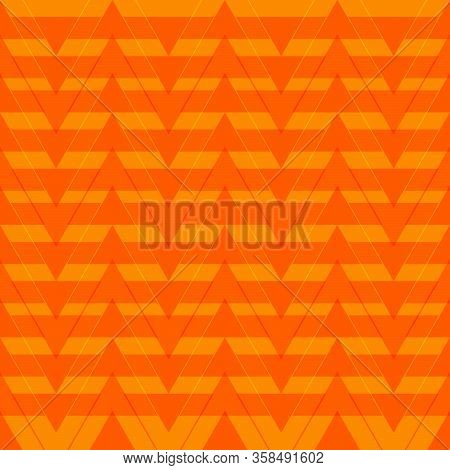 Orange Pattern  Triangle Flat Decorative Vector Eps 10