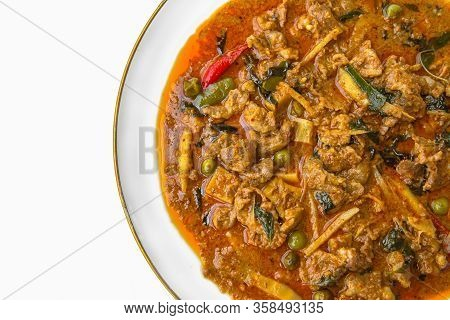 Thai Curry Red Soupthailand Tradition Red Curry With Beefpork Or Chicken Menu In Thai Name Is Panaen