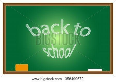 Green Blackboard Blackboard For Classroom Or Restaurant Menu On A White Background. Vector Boards Fo