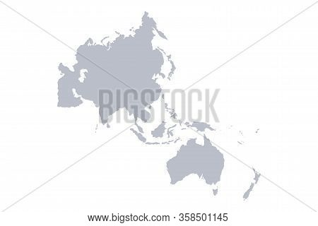 Map Of Asia Pacific. Vector On White Background