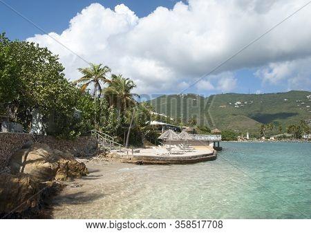 The Transparent Waters Of Lindbergh Bay Coastline On St. Thomas Island (u.s. Virgin Islands).