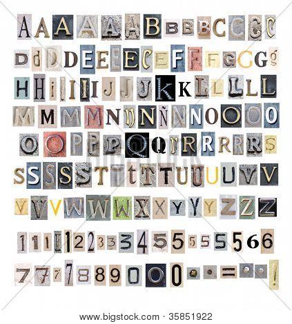 collection alphabet