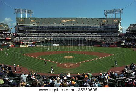 Oakland A's Coliseum Baseball Stadium