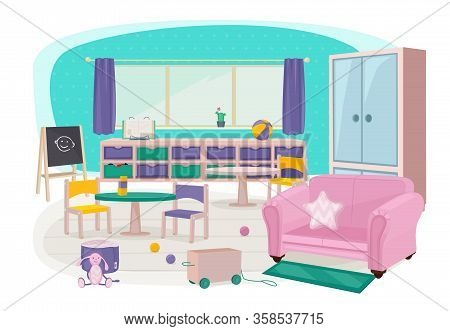 Children Furniture. Toys For Preschool Kindergarten Kids Room Soft Furniture Bedroom Bed Desk Educat