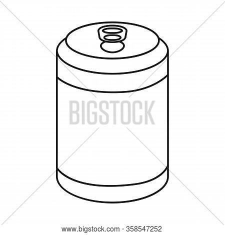 Vector Illustration Of Bottle And Soda Logo. Set Of Bottle And Carbonated Stock Vector Illustration.