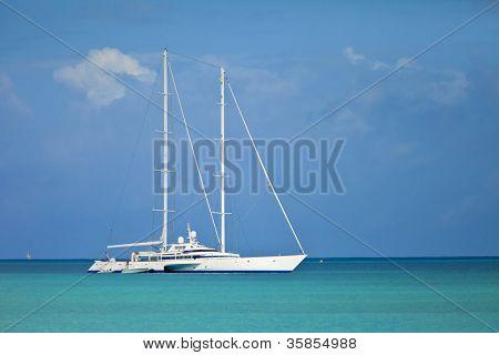 trimaran mega yacht in barbados