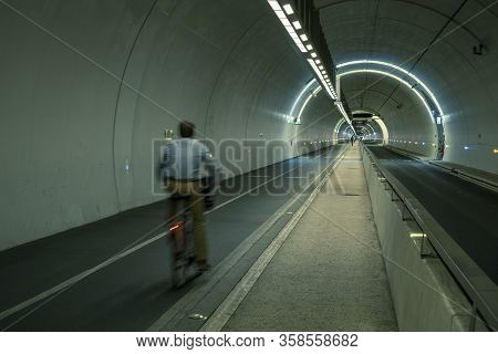 Croix-rousse Tunnel In Lyon City, France, Europe