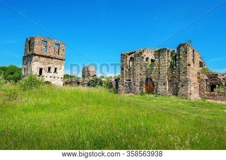 Ukraine, Podgora Village, Ternopil Region, Terebovlya District. Pidhiryan Monastery, Ruins Of Monast