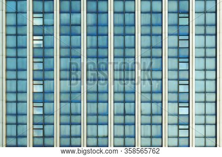 Windows on facade of modern building. Architectural background.