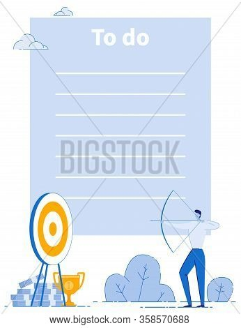 Business Goals Company Strategy To Do List Layout. Plans Implementation. Time Management And Targeti