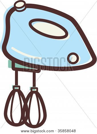 Illustration Of An Egg Beater