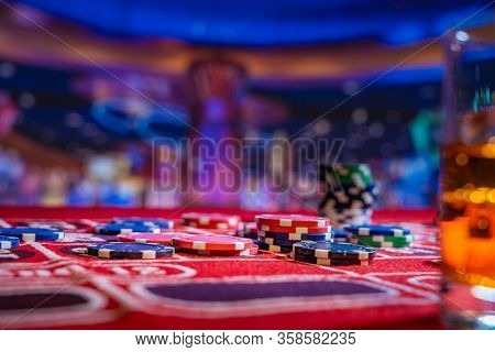 Roulette table at the casino