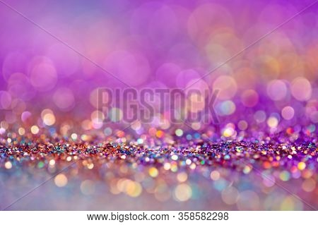 Festive Twinkle Lights Background, Abstract Blurred Backdrop With Circles, Modern Design Wallpaper W