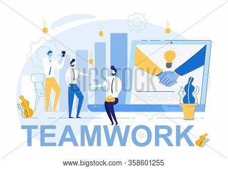Coordinated Teamwork And Effective Management. Partnership Agreement Conclusion. Business People On