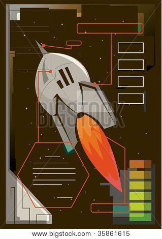 An Illustration Of A Rocket