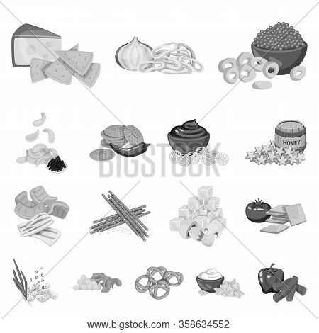 Vector Illustration Of Taste And Cooking Icon. Set Of Taste And Seasonin Stock Symbol For Web.