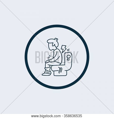 Diarrhea Icon Isolated On White Background From Disease Collection. Diarrhea Icon Trendy And Modern