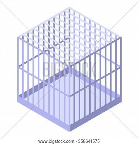 Parrot Cage Icon. Isometric Of Parrot Cage Vector Icon For Web Design Isolated On White Background