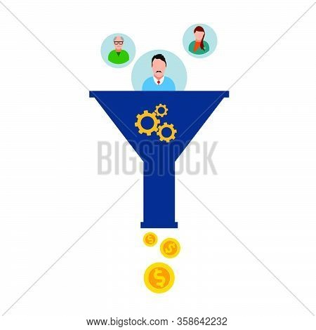 Sales Funnel Icon Web Design Vector Eps 10