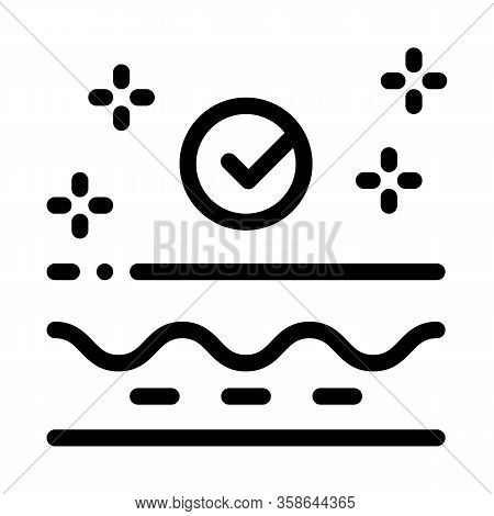 Skin Restoration Icon Vector. Skin Restoration Sign. Isolated Contour Symbol Illustration