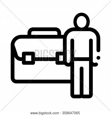 Busy Man Icon Vector. Busy Man Sign. Isolated Contour Symbol Illustration