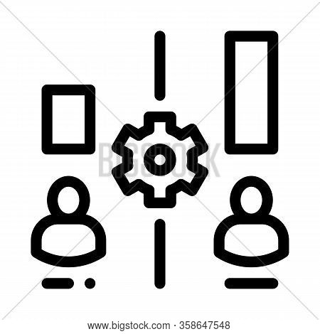 Different Resources Of People Icon Vector. Different Resources Of People Sign. Isolated Contour Symb
