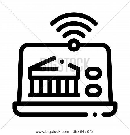 Wi-fi Distribution Through Device Icon Vector. Wi-fi Distribution Through Device Sign. Isolated Cont