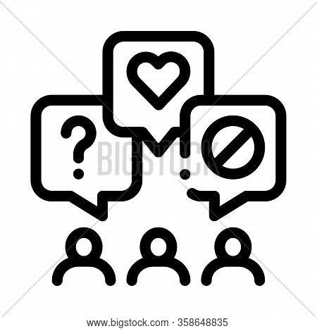 Different Demands Of People Icon Vector. Different Demands Of People Sign. Isolated Contour Symbol I