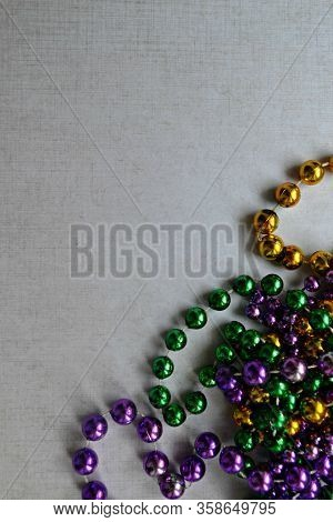 Mardi Gras Traditional Colorful Beads, New Orleans