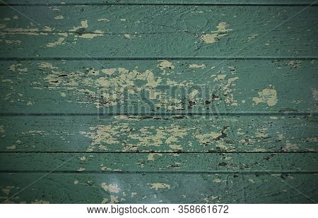 Natural Green Wooden Background, Texture Painted Wood Surface, Textured Abstract Background, Beautif