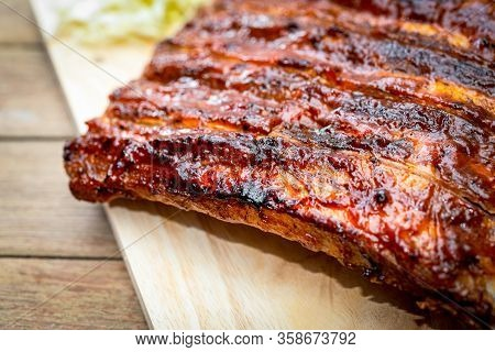 Pork Spare Ribs Barbecue Or Pork Ribs With Bbq