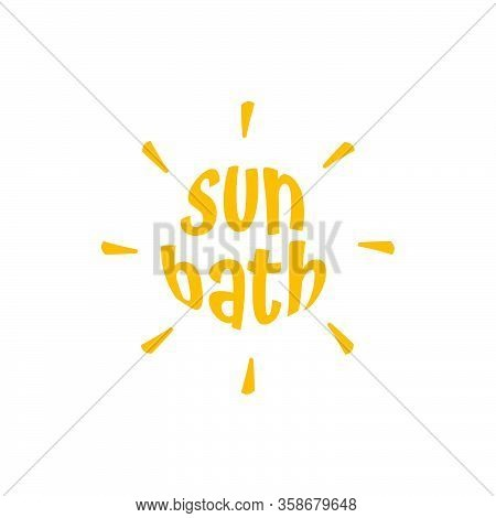 Black Sun Bath Isolated Vector Icon. Simple Element Illustration From Travel 2 Concept Vector Icons.
