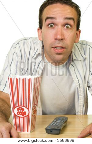 Man Watching Good Movie