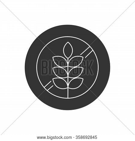 Gluten Free Food Allergy Product Dietary Label Flat Vector Line Icon For Apps And Websites Vector