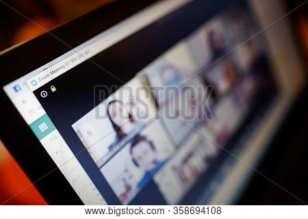 Bucharest, Romania - March 31, 2020: Shallow Depth Of Field Image (selective Focus) With The Zoom Vi