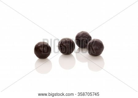 Chinese Herbal Patent Medicine Pills Isolated On White Background. Tcm Concept..