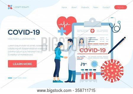 Medical Diagnosis - Coronavirus 2019-ncov. Medical Concept Of Covid-19. Doctor Taking Care Of Patien