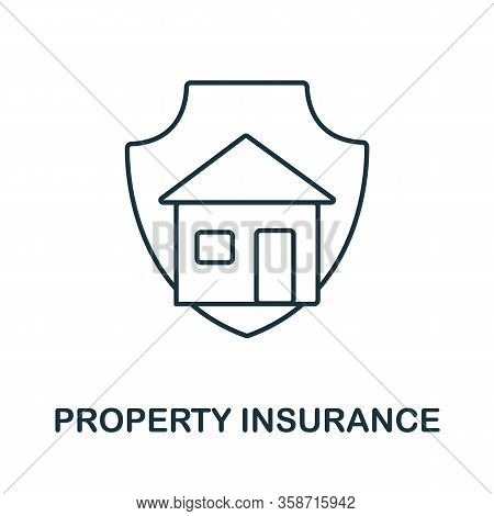 Property Insurance Icon From Insurance Collection. Simple Line Property Insurance Icon For Templates